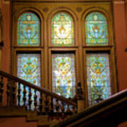Flagler College Stained Glass Poster