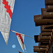 Flags At The Palace Of Governors Poster