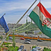 Flags Over Budapest Poster