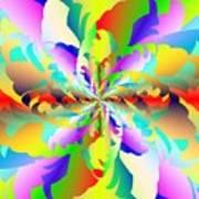Flamboyant Fractal Fire Flower Poster