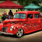 Flame Hot Truck Poster