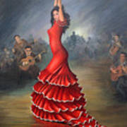 Flamenco Dancer Poster by Mai Griffin