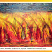 Flames Inferno On A Nice Background - Postcard Poster