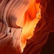 Flames Under The Arizona Desert Poster