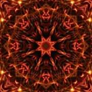 Flaming Catherine Wheel Poster