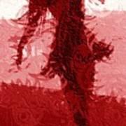 Flaming Raven Poster