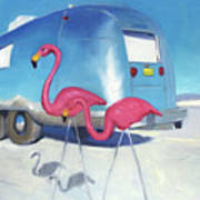 Flamingo Migration Poster