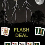Flash Deal  Poker Cards Poster