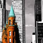 Flat Iron Building Toronto Poster by John  Bartosik