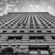 Flatiron Building Sky Black And White Poster