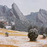Flatiron Meadows - Boulder Colorado Poster