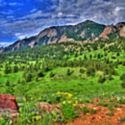 Flatirons And Clouds Poster