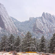 Flatirons From The South Boulder Colorado Poster