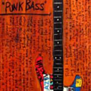 Flea Modulus Punk Bass Poster by Karl Haglund