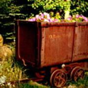 Fleurs In Rustic Ore Car Poster