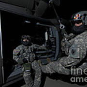 Flight Medics Practice With The Uh-60 Poster