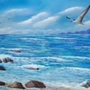 Flight Seascape Poster