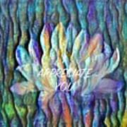 Floating Lotus - I Appreciate You Poster