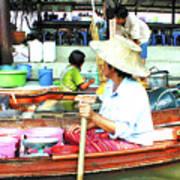 Floating Market Thailand Poster