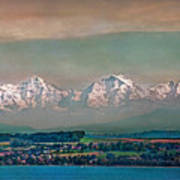 Floating Swiss Alps Poster