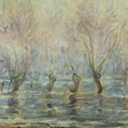 Flood In Giverny Poster