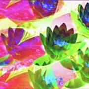 Floral Abstract #3 Poster