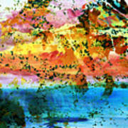 Rustic Landscape Abstract  D2131716 Poster