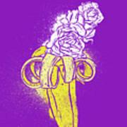 Floral Banana Poster