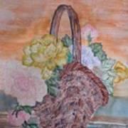 Floral Basket Poster