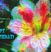 Floral Birthday Card Poster