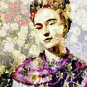Floral Frida Vii Poster