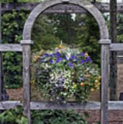 Floral Garden View Poster