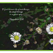 Floral Great Way Quote Poster