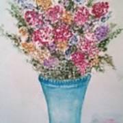 Floral Inked Poster