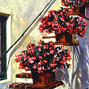 Floral Staircase Poster