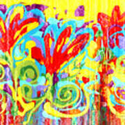 Floral Swirls Poster