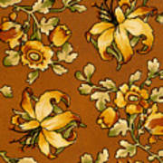 Floral Textile Design Poster