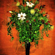 Floral Wall Arrangement Poster