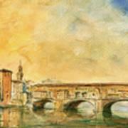 Florence Bridge Ponte Vecchio Poster