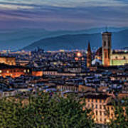 Florence In The Evening Poster