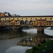 Florence Italy - An Autumn Day At Ponte Vecchio Poster