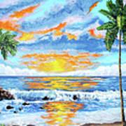 Florida Keys Beach Sunset Poster