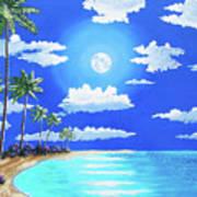 Florida Keys Moon Rise Poster