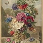 Flower Arrangement, Anthonie Van Den Bos, 1778 - 1838 B Poster
