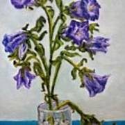 Flower  Bluebells Original Oil Painting Poster