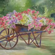 Flower Cart Poster