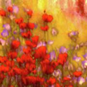Flower Fields Of Summer Poster