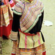 Flower Hmong Girl 04 Poster