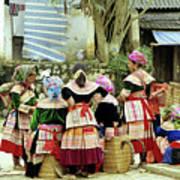 Flower Hmong Women 02 Poster