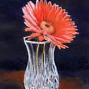 Flower In Crystal Vase Poster